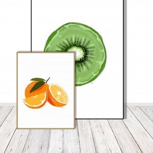 Grafika do kuchni lub jadalni - Pomarańcze