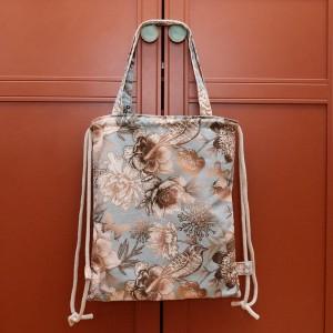 Plecak torba 2w1 w ptaki i kwiaty