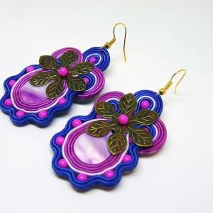 Violetas -  kolczyki sutasz