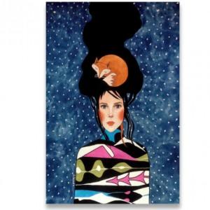 obraz kobiety drukowany