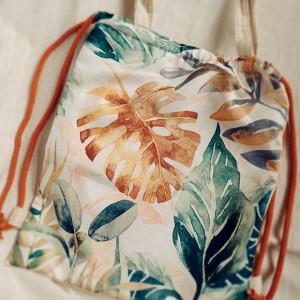 Plecak torba 2w1 botaniczny wzór