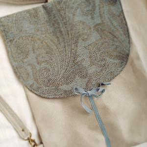 Plecak z żakardową klapą