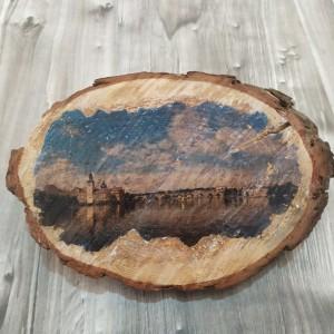 Zdjęcie na plastrze drewna