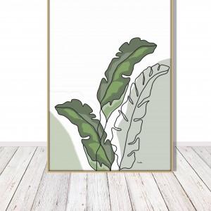 Liście bananowca- grafika autorska