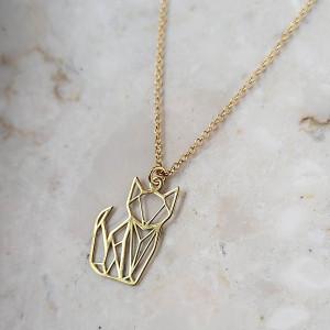 LIS/ KOT-srebro złocone