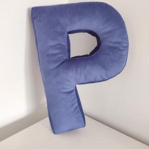 Duża literka P poduszka 40 cm