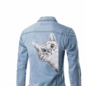 Naklejka naprasowanka na bluzkę, kurtke, torbę kot