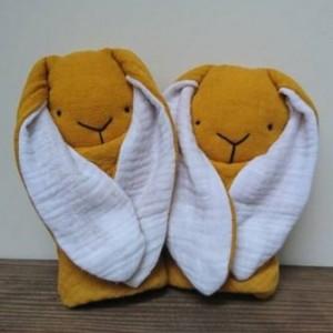 króliczek muślinowy (UK) - króliś tuliś - szmaciany króliczek