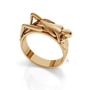 pierścionek LOVERS- srebro złocone