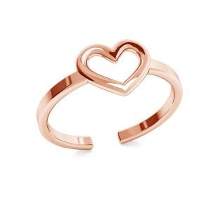 pierścionek SERDUSZKO- różowe złoto