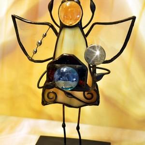 Aniołek witrażowy 3D fotograf