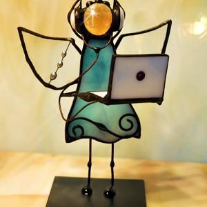 Aniołek witrażowy 3D informatyk