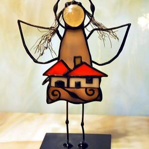 Aniołek witrażowy 3D  opiekun domu