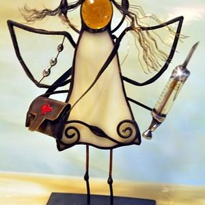 Aniołek witrażowy 3D  pielęgniarka