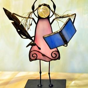 Aniołek witrażowy 3D  poeta