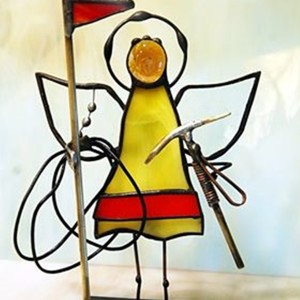Aniołek witrażowy 3D  taternik