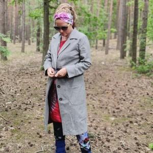 płaszcz damski szary wiosenno jesienno  letni