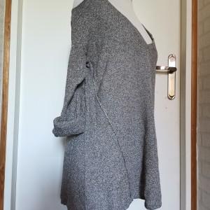 Sweter tunika szara