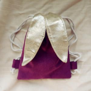 Mini plecak fioletowy króliczek