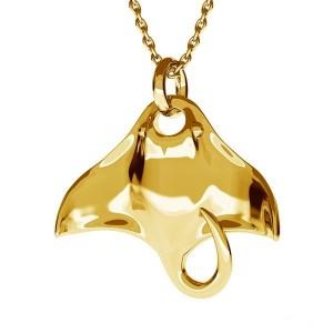 PŁASZCZKA- srebro złocone