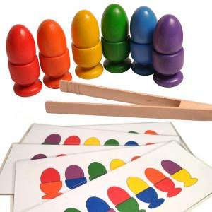 Jajka w kieliszkach Montessori + schematy i szczypce