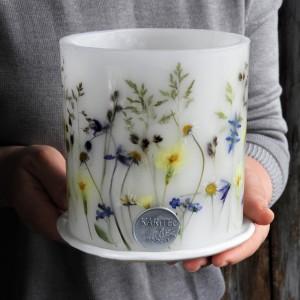 Majowa Polana- lampion z ceramiczną podstawką