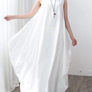 bawełniana biała sukienka oversize xxl