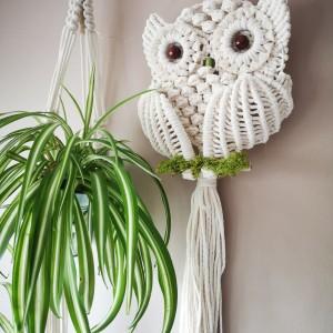 Makrama sowa, dekoracja