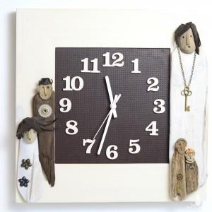 Zegar ze stróżami czasu.