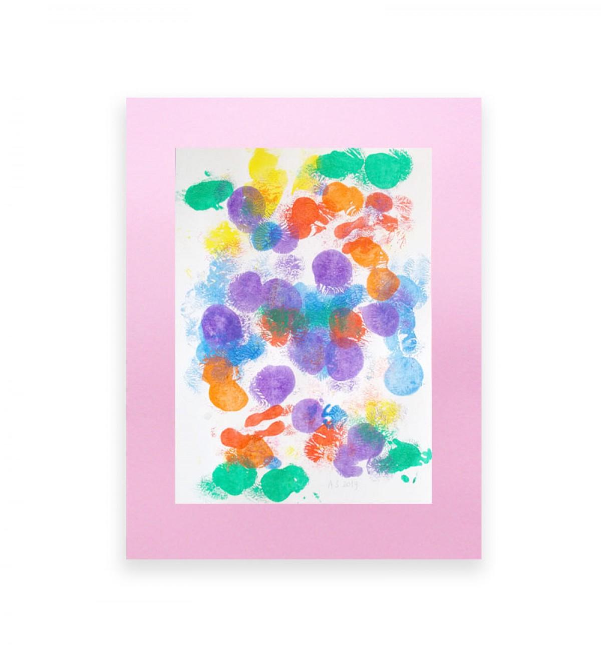 kolorowa dekoracja na ścianę, abstrakcyjny obrazek