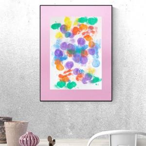 kolorowa dekoracja na ścianę, abstrakcyjny obraz malowany ręcznie, kolorowa abstrakcja do pokoju