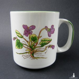 Porcelanowy kubeczek fiołki botaniczny