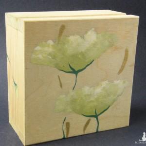 Pojemniczek pudełko szkatułka drewniana malowana