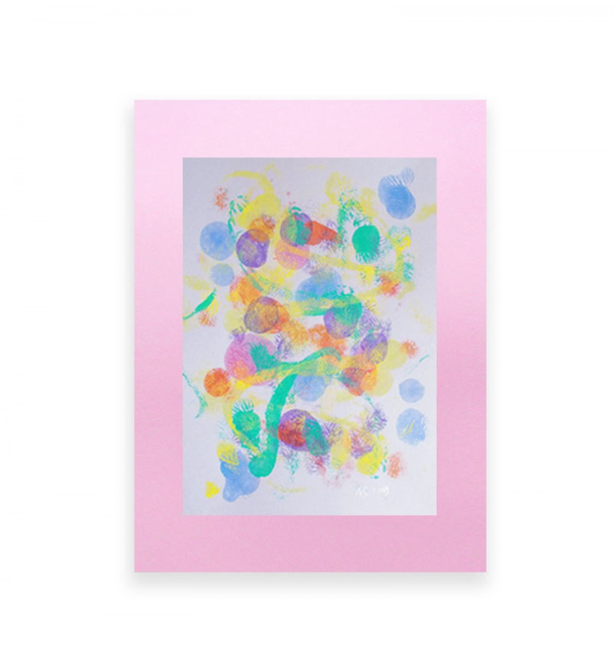 abstrakcyjna grafika, kolorowa dekoracja na ścianę