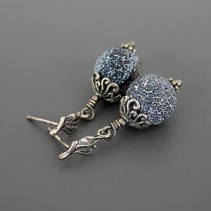 Anna Karenina – kolczyki z agatami, srebro 925