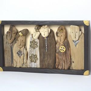 Fotografia rodzinna -  dekoracja z drewna dryfującego