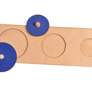 Układanka trzy koła Montessori