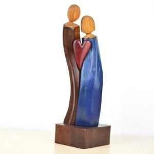 Zakochana para -rzeźba