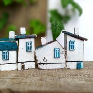 Domki dekoracyjne z drewna - 4 SZTUKI