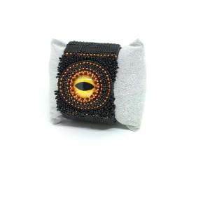 Czarna bransoletka z okiem