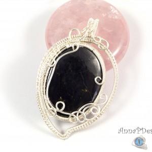 Purpuryt, Srebrny wisior z purpurytem, ręcznie wykonany, prezent dla niej, prezent dla mamy, prezent urodzinowy, niepowtarzalna biżuteria.