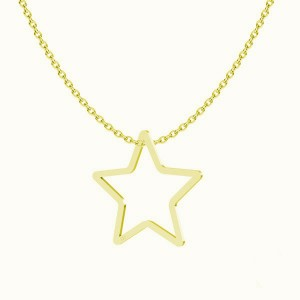 BIG STAR- srebro złocone