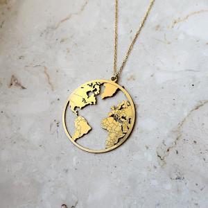 WORLD-srebro złocone