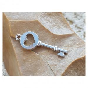120 srebrny wisiorek vintage, klucz