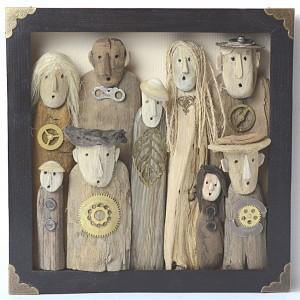 Urodziny Babci - obraz z drewna dryfującego