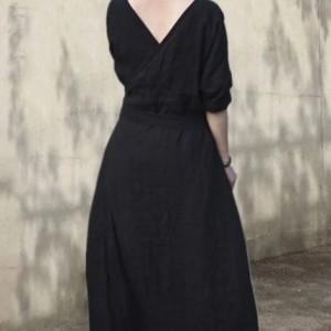 bawełniana czarna sukienka oversize M