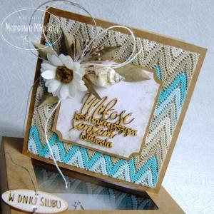 Ślubna kartka eko z pudełkiem