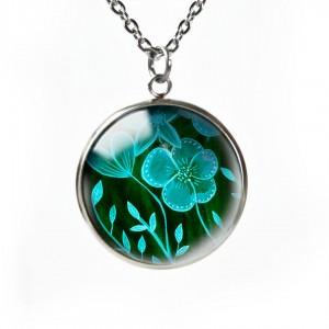 Green flowers naszyjnik