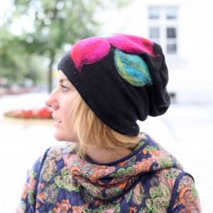 czapka wełniana damska czarna