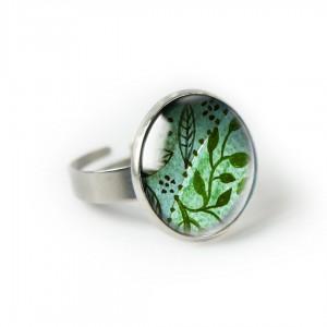 Green nature pierścionek